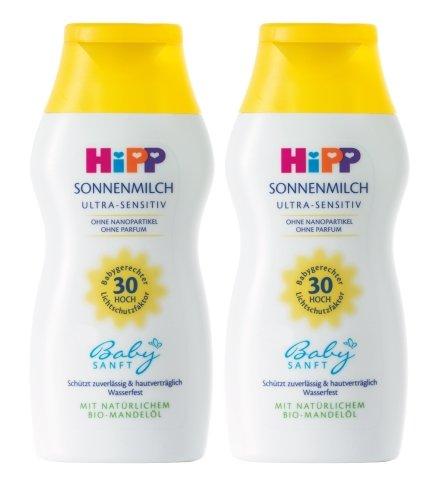 HiPP Babysanft Sonnenmilch, 2er Pack (2 x 200ml)