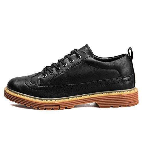 Uomo Il nuovo Moda Tempo libero scarpe di pelle Scarpe da lavoro Attività commerciale Scarpe casual Fondo spesso Scarpe antiscivolo euro DIMENSIONE 39-44 Black