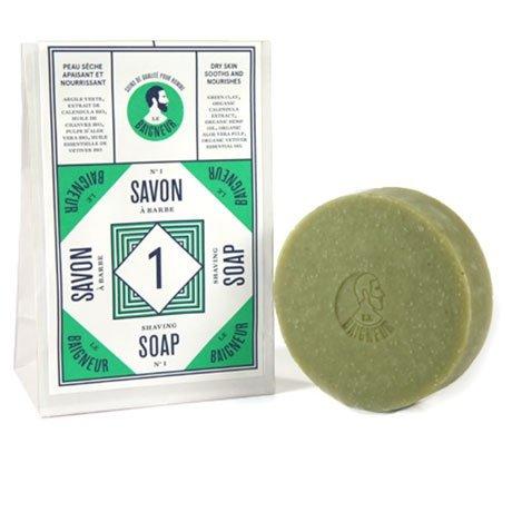 Savon à Barbe N°1, calendula, huile de chanvre et argile verte