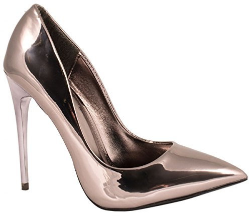 Elara Damen Pumps | Moderne Stiletto High Heels | Spitze Abendschuhe