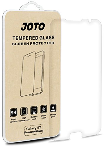 Samsung Galaxy S7 Tempered Glass Screen Protector – JOTO Galaxy S7 Tempered Glass Screen Protector Film Guard 0.30 mm Rounded Edge Real Glass Screen Protector for Samsung Galaxy S7 2016 (1 Pack)