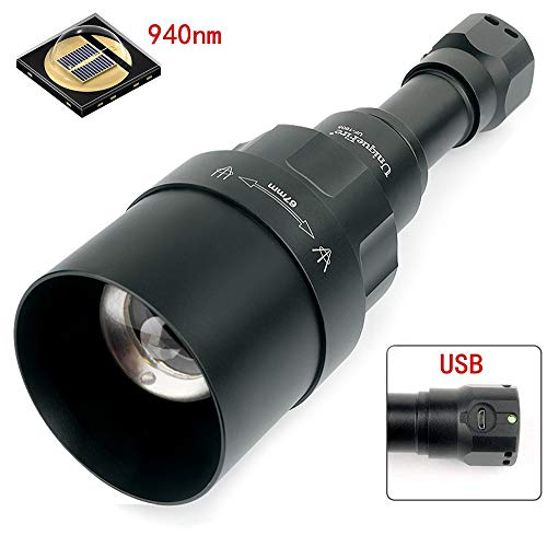 UniqueFire Uf1605 Infrarot-Objektiv, 940 nm / T67 (67 mm) Konvexe Linse Infrarot-Nachtsicht Taschenlampe, Taschenlampe, Akku, Einstellbarer Fokus