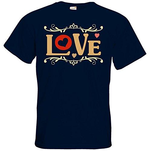getshirts - RAHMENLOS® Geschenke - T-Shirt - Valentinstag Valentine Love Navy