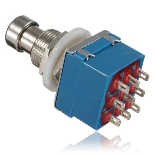 9-Pin-3PDT Effekte-Pedal Box Stomp Fuß Metalltaster.