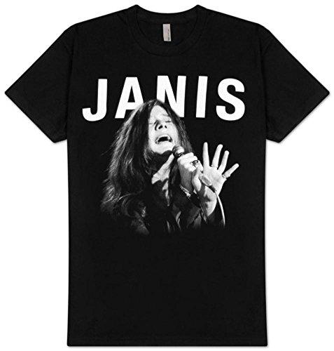 Janis Joplin Janis diseño de T-Camiseta de Manga Corta de diseño de Cantando