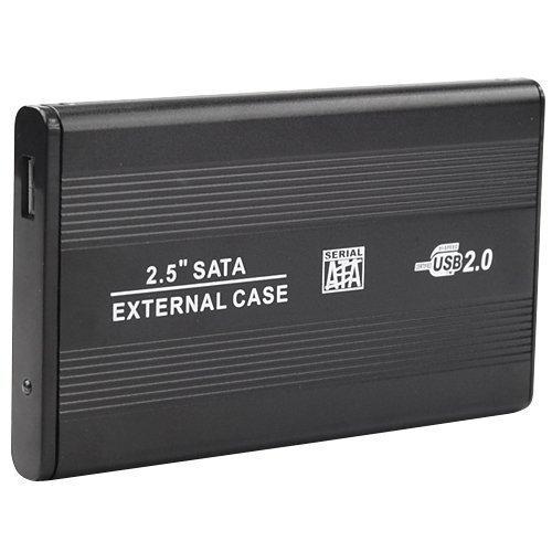 Accessotech Festplattengehäuse für Sata-Festplatten (6,4cm / 2,5 Zoll) Schwarz