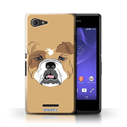 Kobalt® Imprimé Etui / Coque pour Sony Xperia E3 / Gorille/Chimpanzé/Singe conception / Série Museaux Chien/Bulldog