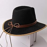FHHYY sombreo Sombrero de Paja Nuevas Mujeres Sombrero de Verano Damas Elegante Cloche Estilo Encaje Perla Sol Sombrero Mujer Sombrero de Playa de ala Ancha,g