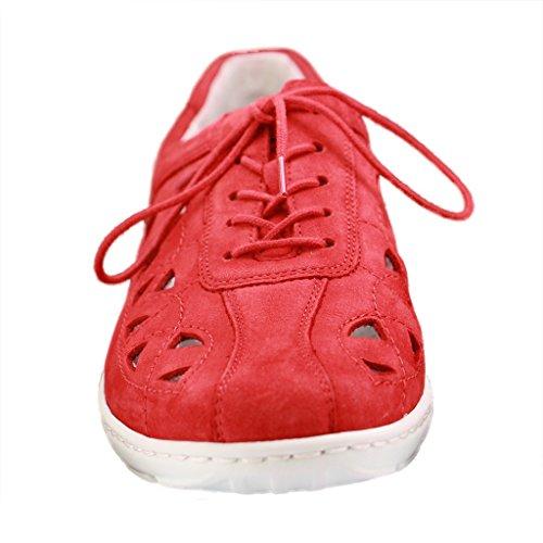 Waldläufer Schnürer Henni, Farbe: rot Rouge - Rouge