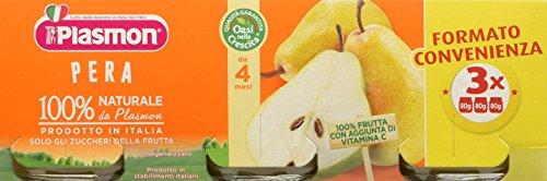 Plasmon Omogeneizzato di Frutta, Pera - 24 Vasetti usato  Spedito ovunque in Italia