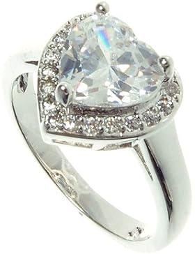 Schmucktrendzone Fashion-Ring, Damen-Ring, Zirkonia weiss, antiallergen Nr.7004