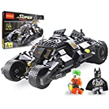 BestBuyToy Batmobile Building Blocks 325 Pcs Lego Style Super Heroes DIY Bat Tank Block Set With 2 Minifigures And Brick Separator
