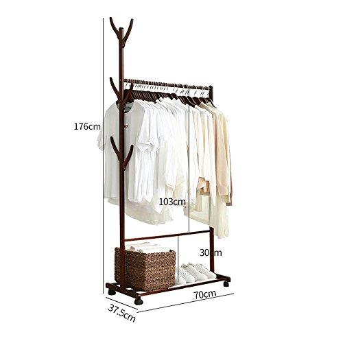 Xiaolin Cintres Sol-Debout Simple Chambre Utilisation À La Maison Économique Cintre Multifonctionnel Manteau Rack Style Style Suspendus Bag Rack Couleur en Option, Taille