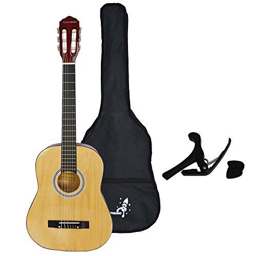 Rocket XF201CN XF Serie - Guitarra española clásica (tamaño 3/4), color natural