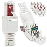 Lot DE 20 fiches réseau RJ45 CAT6 LAN UTP sans Outils ni Outil CAT5 CAT7 Câble de...