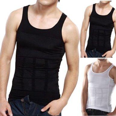 Mens Slimming Body Slim Chest Tummy Shaper Vest Under Shirt Waist Back Support