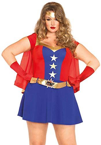 enue Damen Comic Buch Mädchen Super Held Kostüm Kleidung Größe 44-46 ()