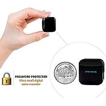 ATTO-4GB Piccolissimo HQ Registratore Audio di Spionaggio con Attivazione Vocale con File Protetti da Password - Dispositivo discreto de spiare - 4GB / 286 ore Capacità - 24 ore di vita della batteria
