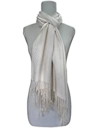 Vozaf Women's Viscose Shawls - White