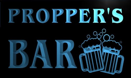 w050030-b-propper-name-home-bar-pub-beer-mugs-cheers-neon-light-sign