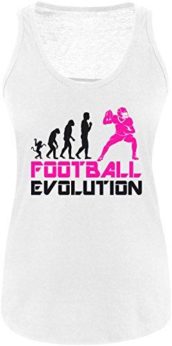 EZYshirt® Football Evolution Damen Tanktop Weiss/Schwarz/Pink