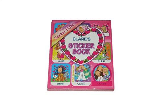 Aufkleber nach der Name personalisiert Clare 6verschiedene Stile 9Blatt 9Aufkleber pro Blatt (kann nicht auf jede andere Namen personalisiert werden)