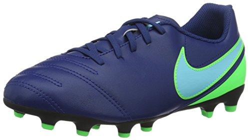 Nike Jr Tiempo Rio Iii Fg, Scarpe da Calcio Allenamento Unisex Bambini, Blu (Coastal Blue/Polarized Blue/Rage Green), 36 EU
