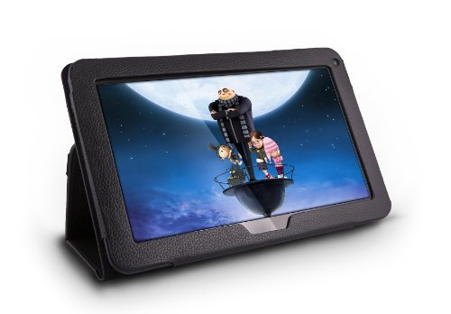 Klapp-Schutzhülle für Fusion5 Xtra 10,1 Zoll, Standfunktion, Leder-Optik, Halteband, ideal für Fusion5 Xtra v1, Xtra v3, Xtra Compact and Xtra 4CORE Tablets V3 Compact