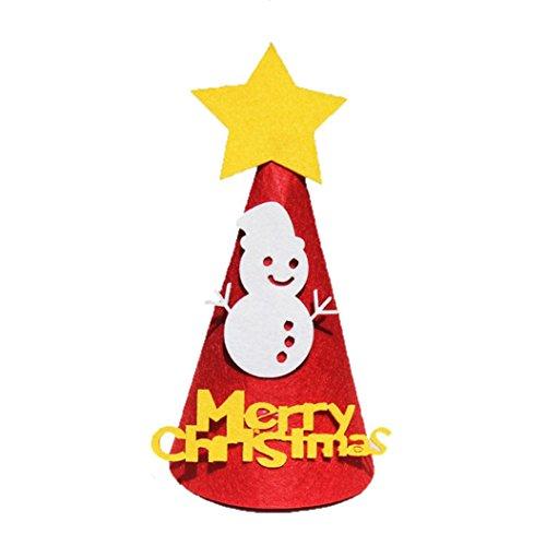 DIY Weihnachtsmütze Transer® Weihnachten Verdicken Hut Weihnachtsmann Cap Santa Hut Faltbar Cap Mützen Party Handwerk Größe: 16,5×27cm (Hut Green Santa)