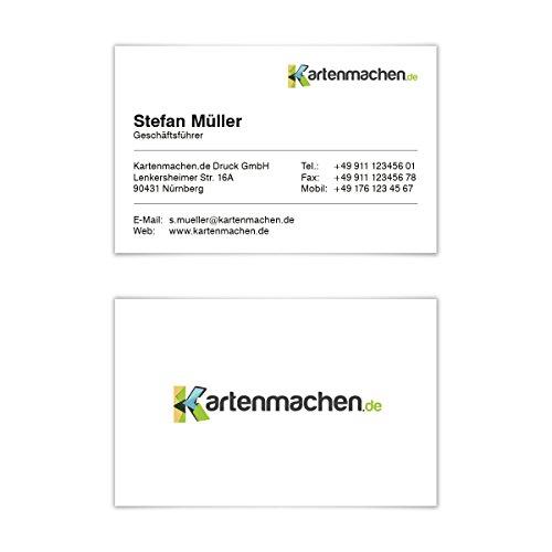 20 x Visitenkarten individuell Business Karten 300g/qm 85 x 55 mm - Klassisch