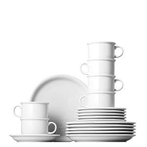 Thomas 11400-800001-18735 Service à Café 18 Pièces Porcelaine Blanc 40 x 30 x 30 cm