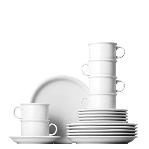 Thomas 11400-800001-18735 Trend Kaffee-Set 18-teilig (Tasse), weiß
