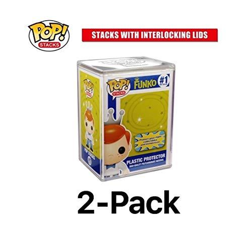 FunKo Pop Stacks: Plastic Protector Case with Interlocking Lid #6520 (2-Pack) (Pops Display Funko)
