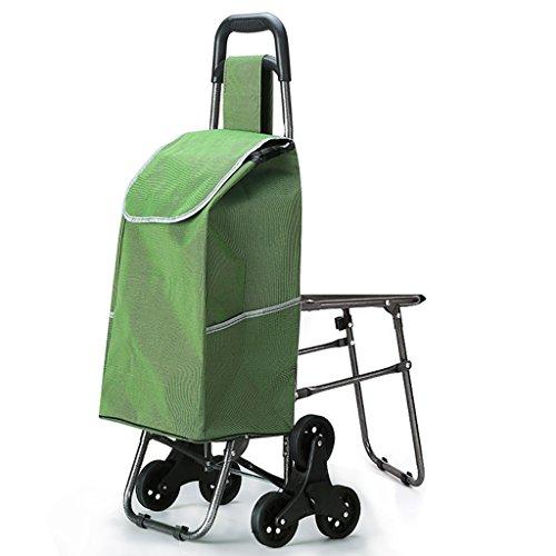 shopping cart JF Einkaufswagen Große Kapazität/Trolley/Supermarkt Einkaufen/Handhabung von Waren/Portable Falten (Farbe : B) (Großer Tag Golf-cart)