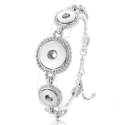 AITU Armband Austauschbares Schmuckarmband für Damen für 18mm Snap Charm Crystal Armband, 2 -