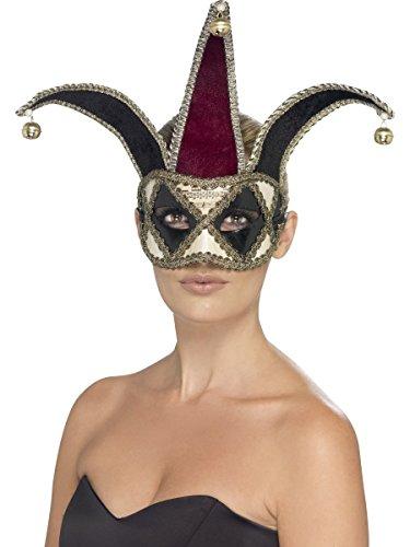 Fancy me uomo donna gothic arlecchino veneziano medievale giullare di corte mascherata di halloween maschera maschera