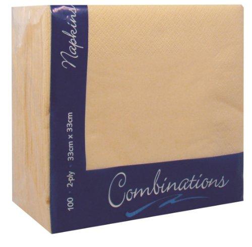 100apricot creme zweilagig Papier Servietten Servietten Gewebe 33cm Party Geschirr Catering (100 Papier Servietten)