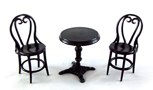 Puppenhaus Falcon Miniatur Schmiedeeisen Patio Cafe Bistro Set Tisch & Stühle (Schmiedeeisen Patio Set)