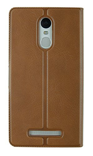 MACC MACC-LEATHERFLIP-REDMINOTE3-BROWN4 Business Premium Faux Leather Flip Case Flip Cover for For Xiaomi Redmi Note 3 – with Stand , Magnetic Lock, Card & Currency Wallet – ( Executive Brown)