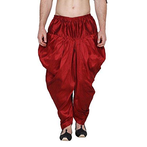 Royal Men's Silk Blend Patiala Salwar Alladin Pant's (maroon)