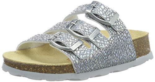 Superfit Mädchen Fussbettpantoffel Pantoffeln, Silber Metallic 95, 30 EU