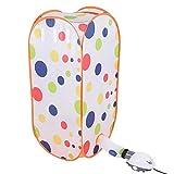 Eboxer 800 Watt Tragbare Elektrische Luft Wäschetrockner Mini Schnell Trocknende Maschine Mehrzweck Tuch Airer Falten für Haus (Punkt)