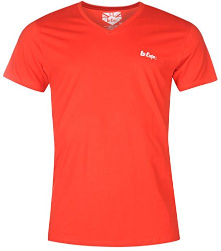 Leichter Herren V Neck T Shirt Top Essential Rot - Rot