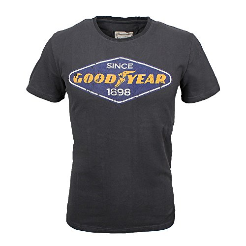 Goodyear Uomini T- Shirt East Lake Concrete Grey, Herren:XXXL
