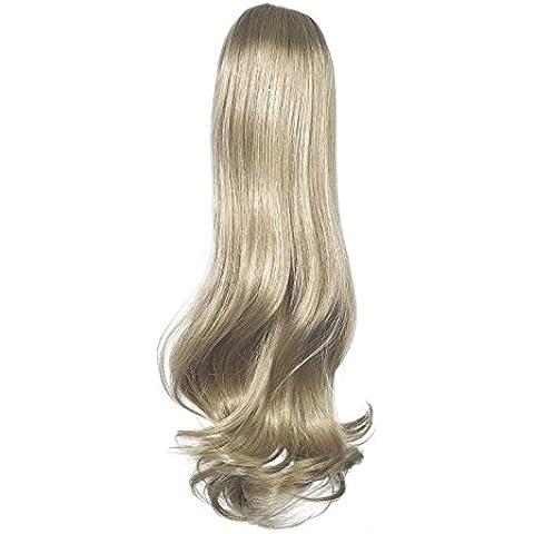 Amor Cabello Extensiones Cola de caballo del Victorian - la fijación mediante elástica - pelo sintético de alta calidad - color de 18/22 - Playa de Ash Blonde / rubio, 1er Pack (1 x 1 pieza)