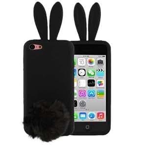Coque silicone 3D Lapin Noir pour Iphone 5C