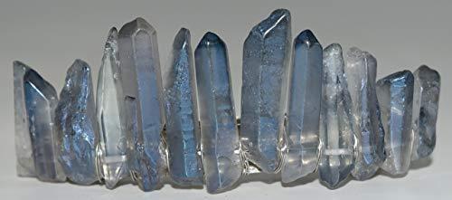Nature\'s Enlightenment Haarspange mit blauem Engel Aura Quarzstein - Wicca heidnischer Schutz, Kristallgitter, Kristalltherapie