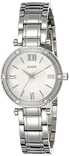 Guess Women's Quartz Watch with Silver Dial Analogue Display and Silver Stainless Steel Bracelet W0767L1