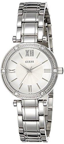 Guess  W0767L1 – Reloj de lujo para mujer, color blanco / plateado