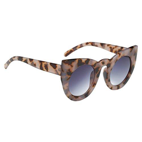 Kostüm Leopard Party - MagiDeal Damen Klassiker vintage Katzenauge Runde Sonnenbrille für Party Kostüm - Leopard, wie beschrieben